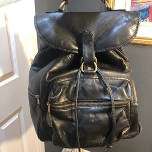 FRYE Vintage Large Black Backpack